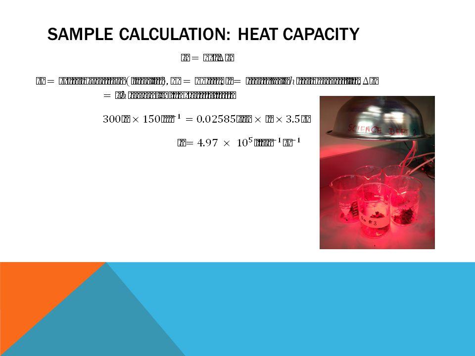 SAMPLE CALCULATION: HEAT CAPACITY