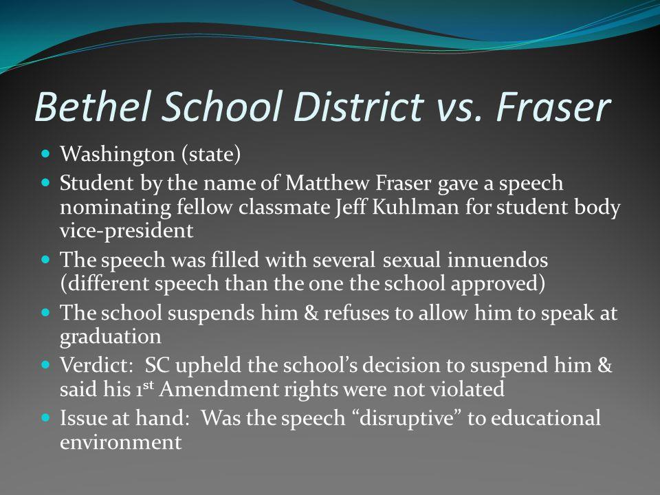 Bethel School District vs.