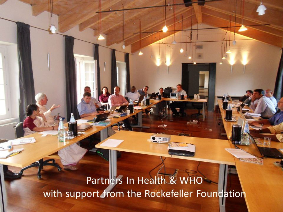 Partners In Health & WHO with support from the Rockefeller Foundation