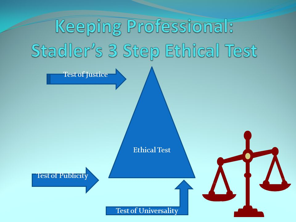 Ethical Test Test of Justice Test of Publicity Test of Universality
