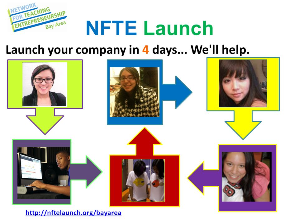 NFTE Launch http://nftelaunch.org/bayarea Launch your company in 4 days... We ll help.