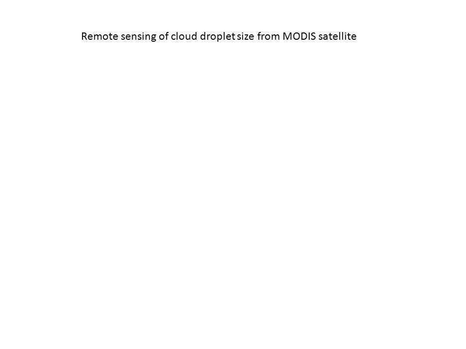 Remote sensing of cloud droplet size from MODIS satellite