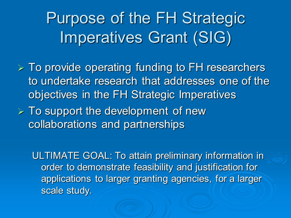FH Strategic Imperatives  Great workplaces  Capacity  Quality and safety  Integration  Research and academic development  Progressive partnerships http://www.fraserhealth.ca/AboutUs/Organization/StrategicDirection/Pages/default.aspx