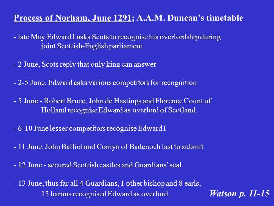 Process of Norham, June 1291; A.A.M.