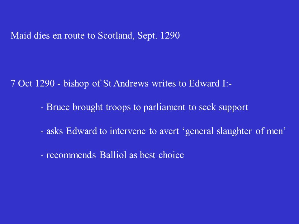 Maid dies en route to Scotland, Sept.