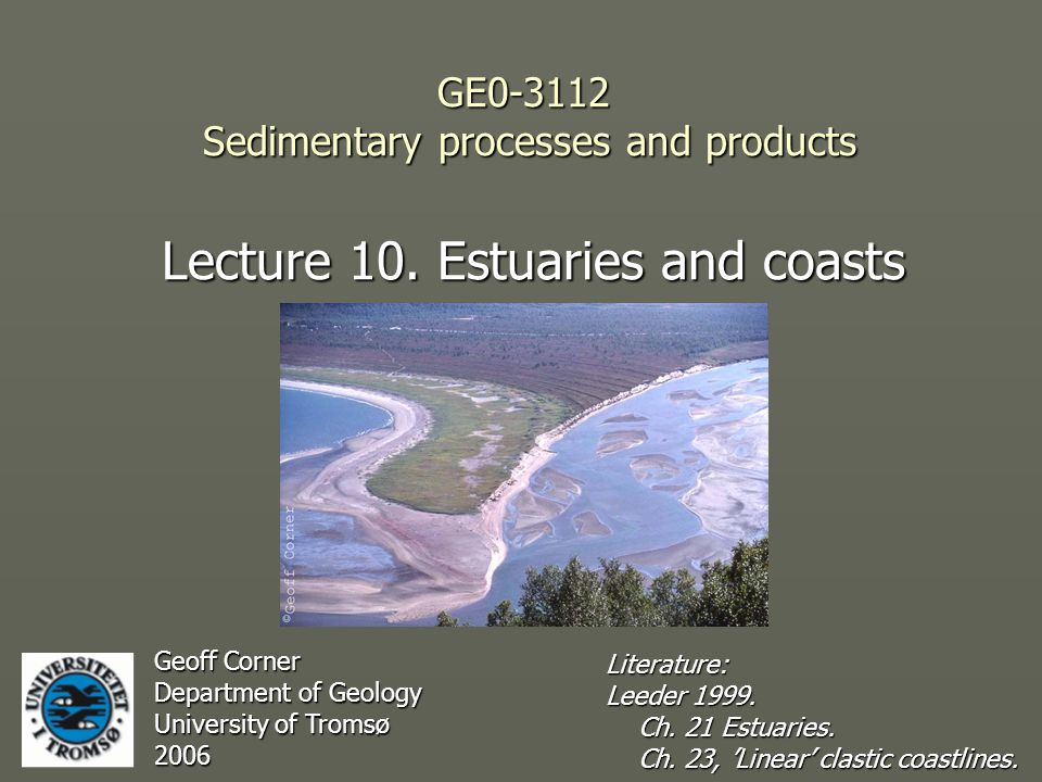 GE0-3112 Sedimentary processes and products Lecture 10.