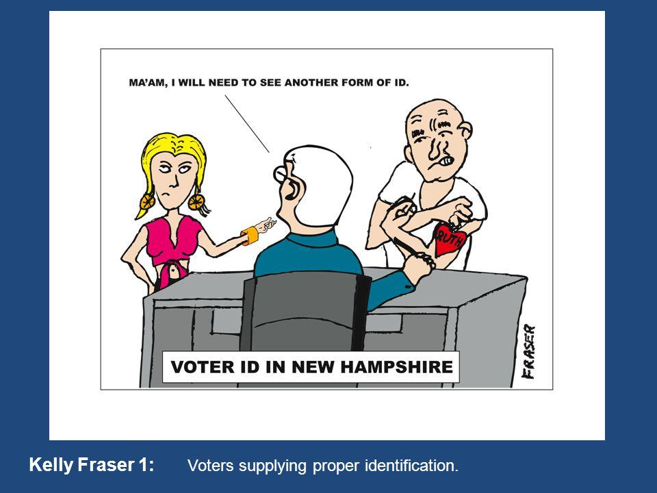 Kelly Fraser 1: Voters supplying proper identification.