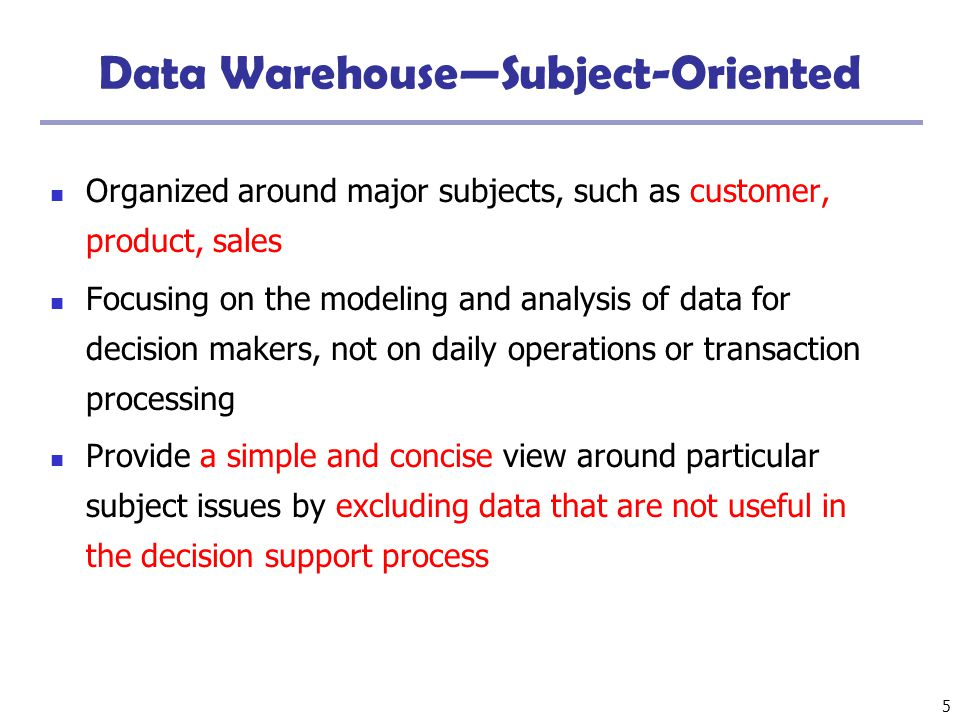 6 Data Warehouse—Integrated Constructed by integrating multiple, heterogeneous data sources relational databases, flat files, on-line transaction records Data cleaning and data integration techniques are applied.