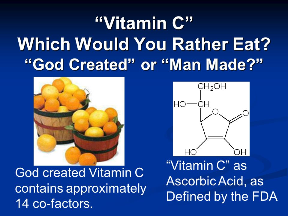 Vitamin C Which Would You Rather Eat.