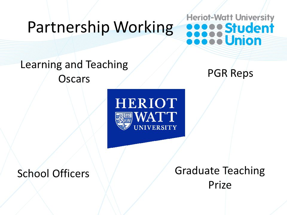 Partnership Working PGR Reps Learning and Teaching Oscars School Officers Graduate Teaching Prize