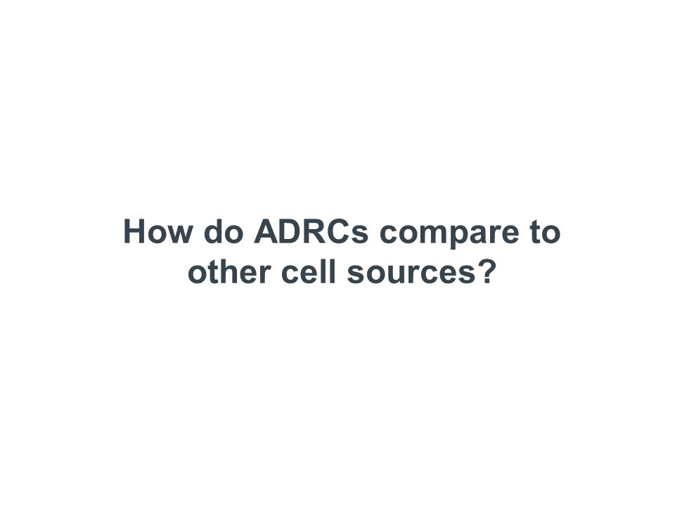 How do ADRCs compare to other cell sources?