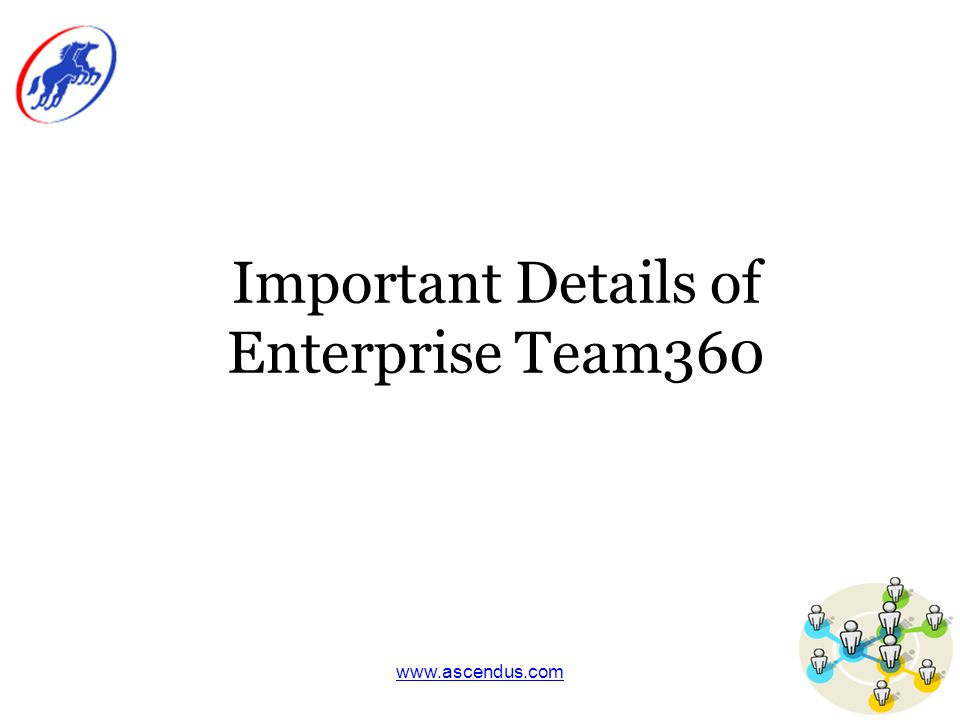www.ascendus.com Important Details of Enterprise Team360