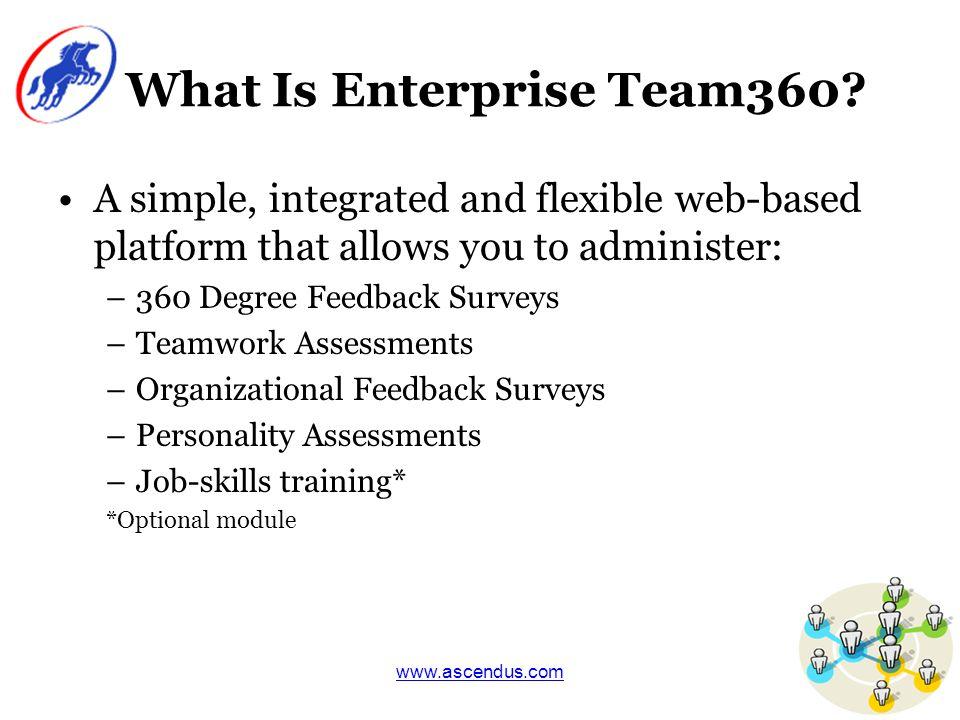 www.ascendus.com Why Enterprise Team360?