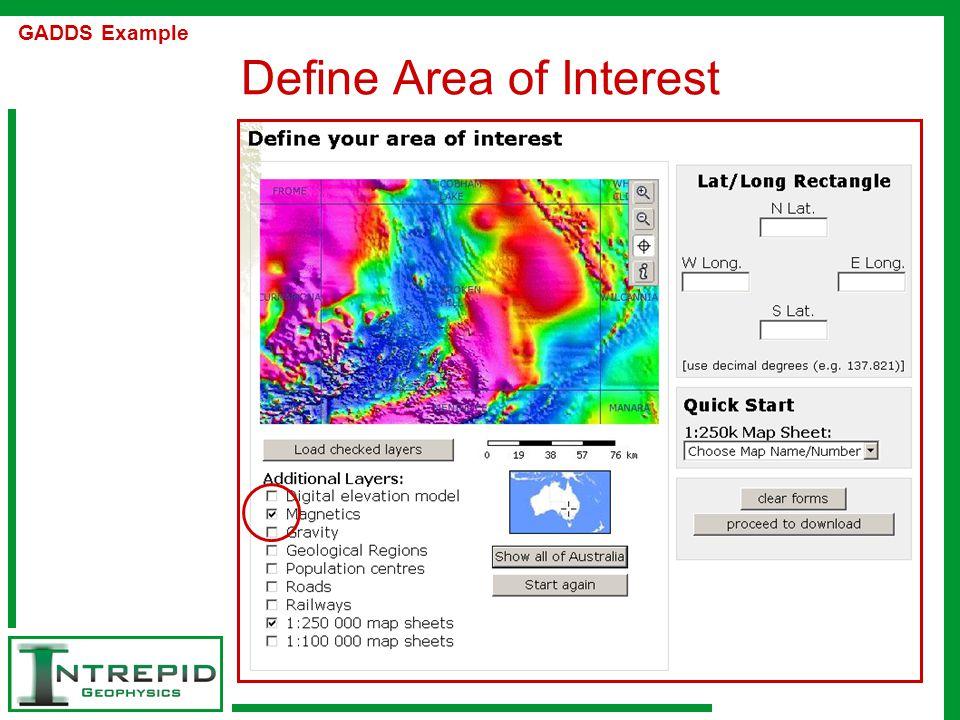 Define Area of Interest GADDS Example