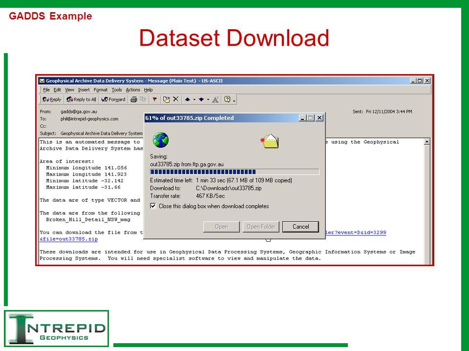 Dataset Download GADDS Example