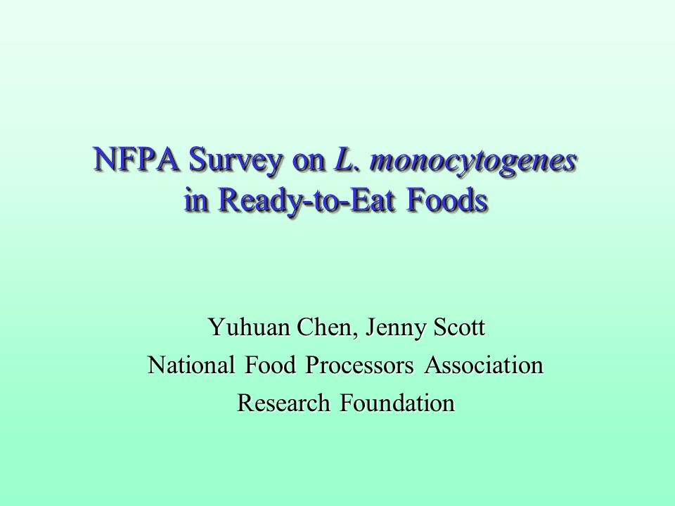NFPA Survey on L.