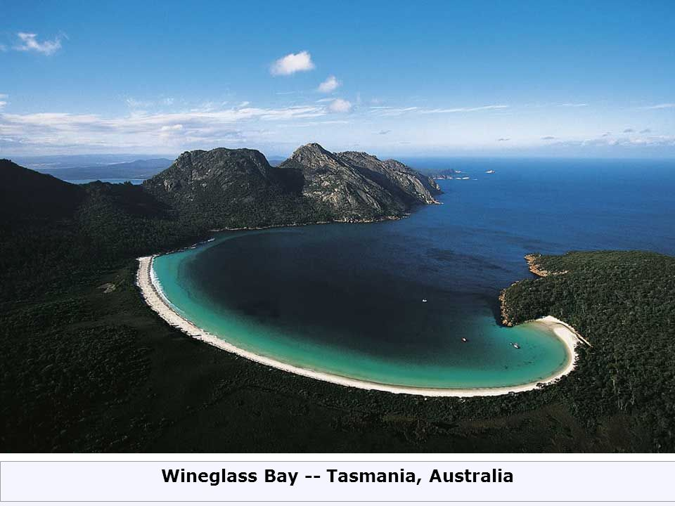 Wineglass Bay -- Tasmania, Australia