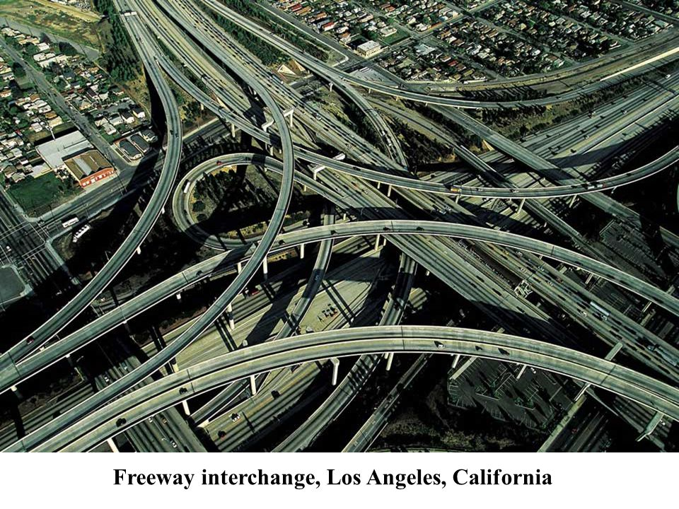 Freeway interchange, Los Angeles, California