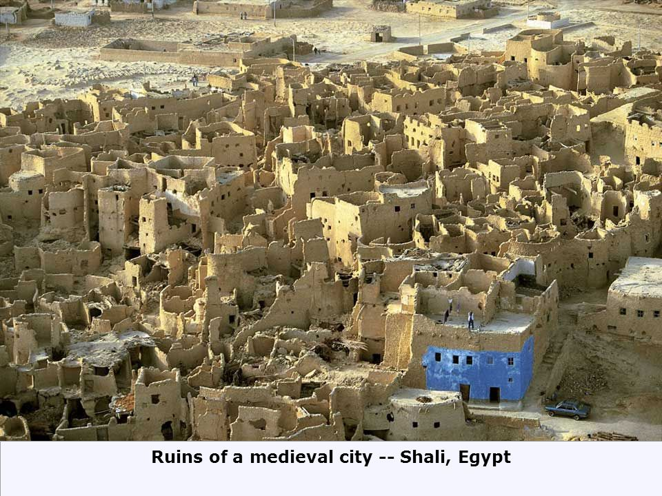 Ruins of a medieval city -- Shali, Egypt