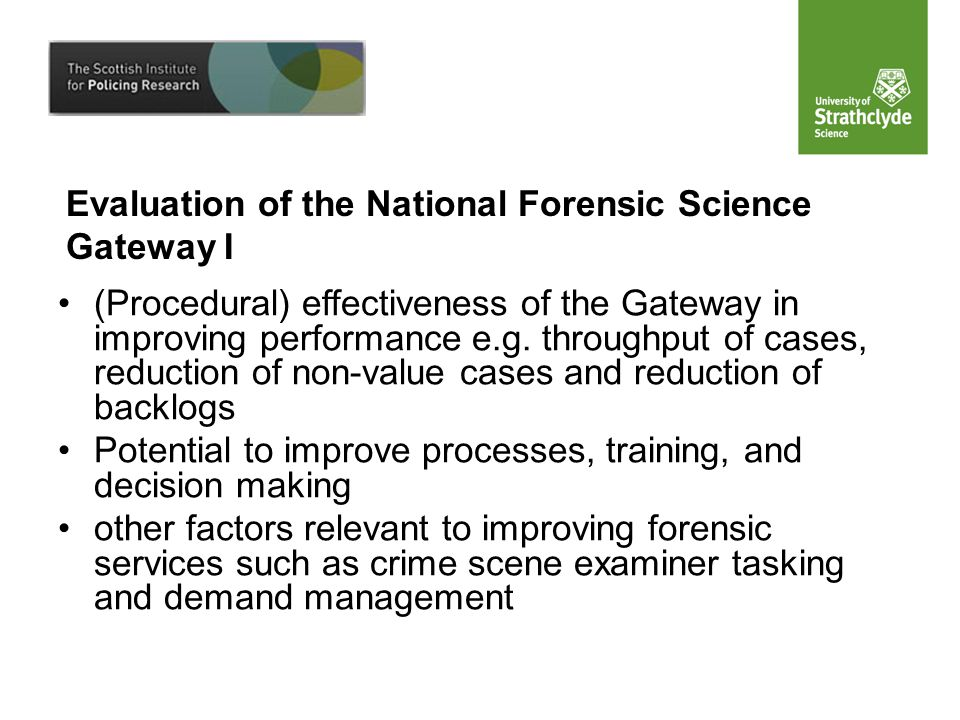 (Procedural) effectiveness of the Gateway in improving performance e.g.