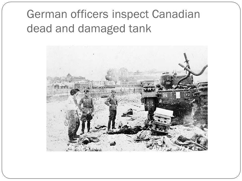 Outcomes Dead, wounded or captured: 3367 Canadian 247 British 591 German 106 RAF planes shot down, 48 Luftwaffe.