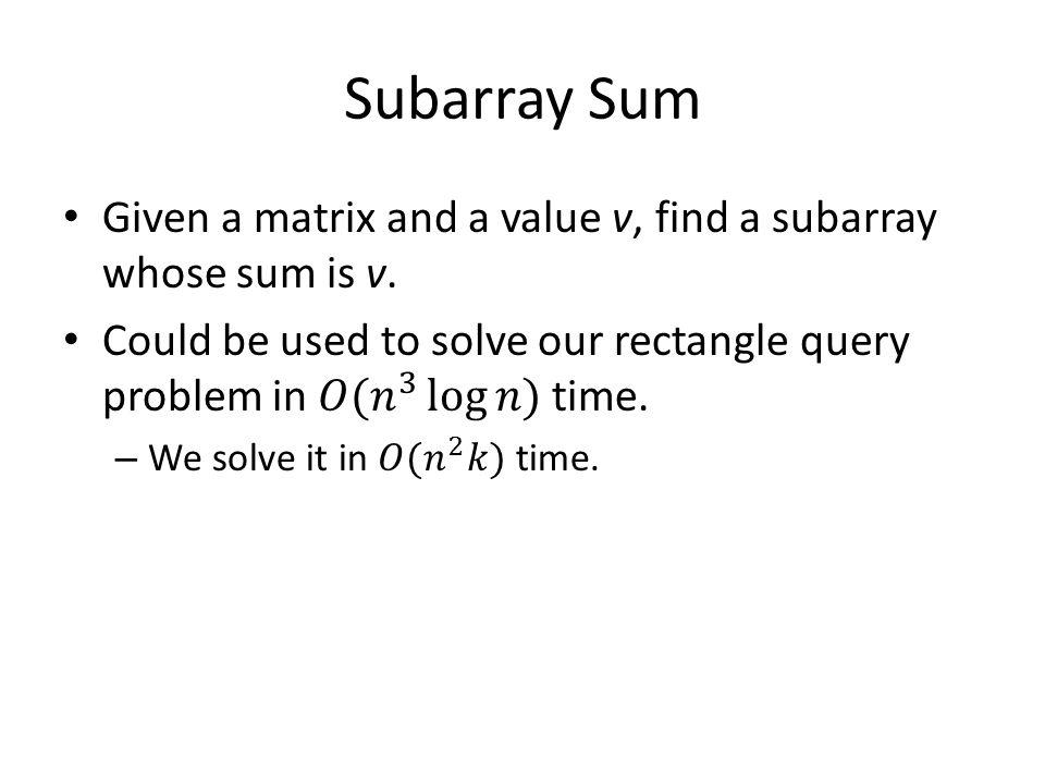 Subarray Sum