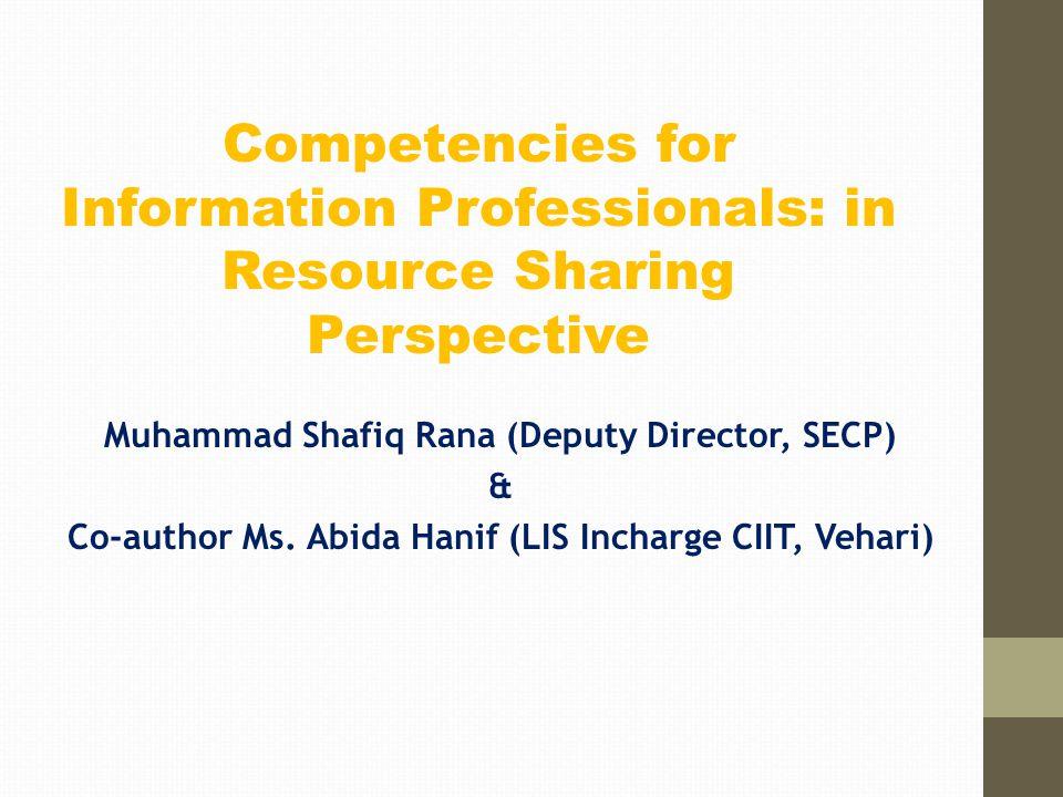 Muhammad Shafiq Rana (Deputy Director, SECP) & Co-author Ms.