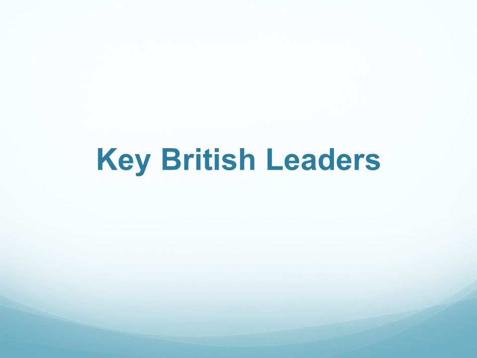 Key British Leaders