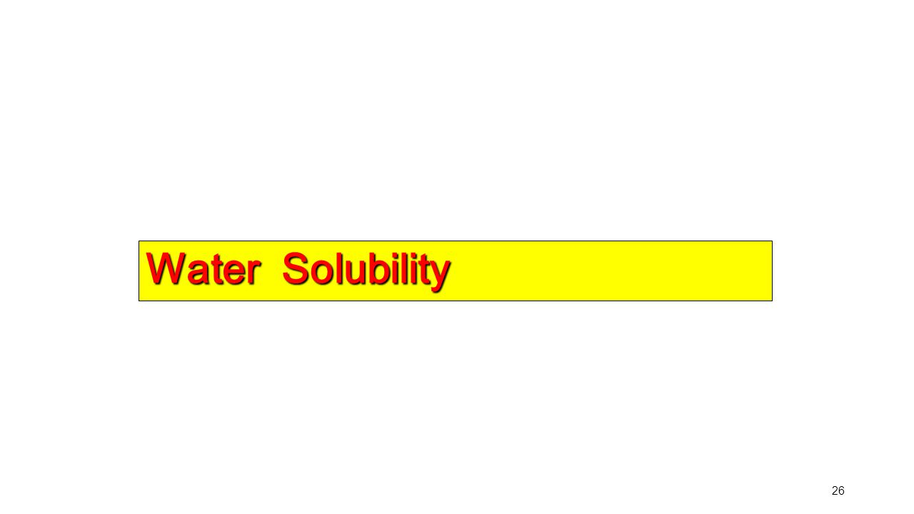 26 Water Solubility