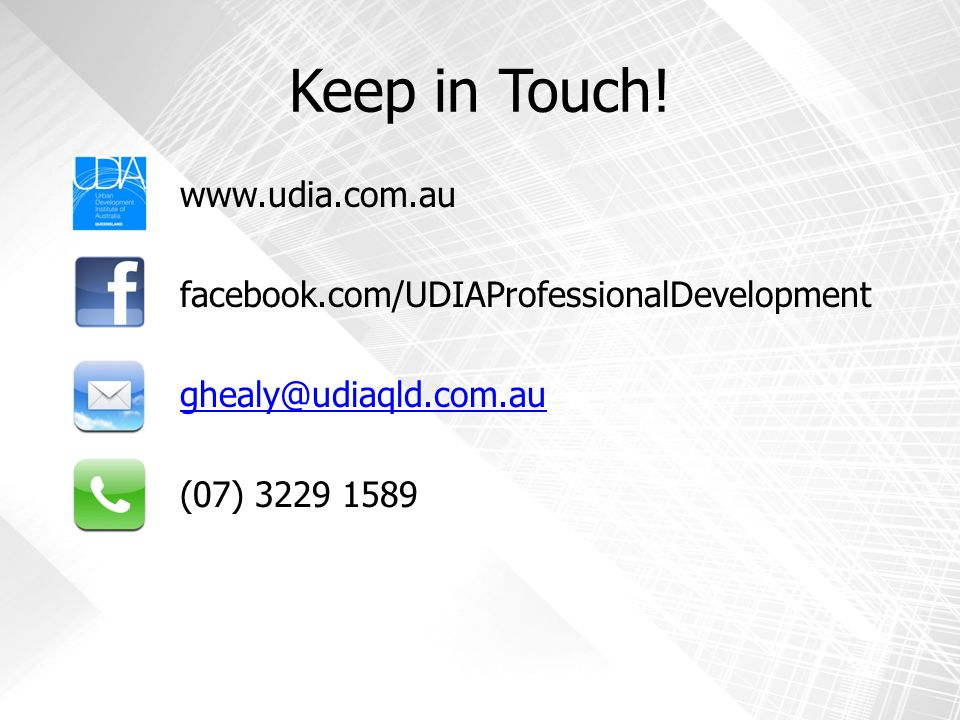 Keep in Touch.