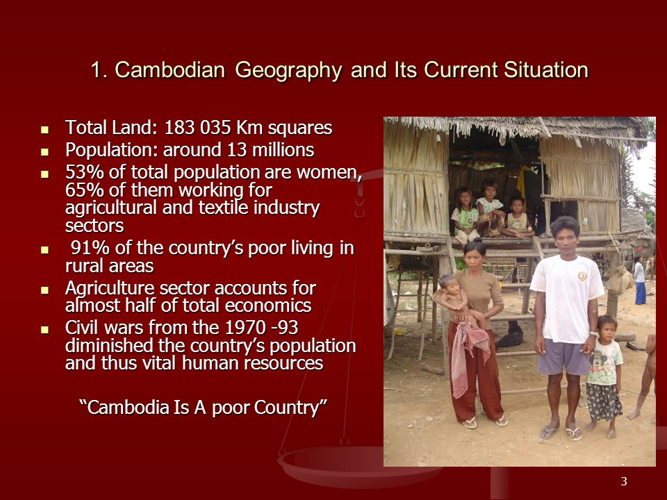 3 1.Cambodian Geography and Its Current Situation 1.