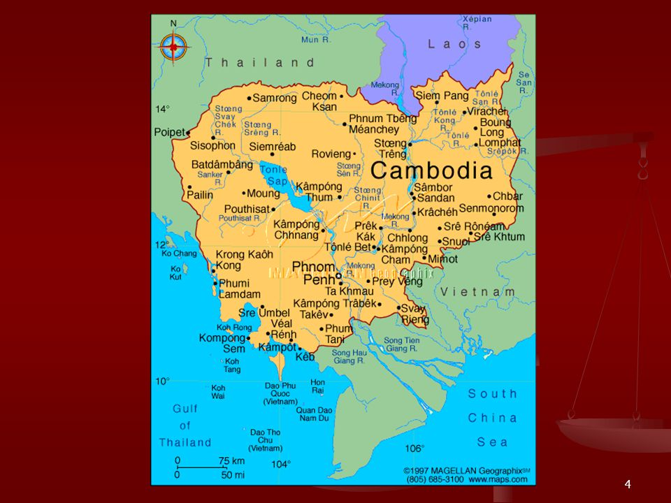 3 1. Cambodian Geography and Its Current Situation 1. Cambodian Geography and Its Current Situation Total Land: 183 035 Km squares Total Land: 183 035
