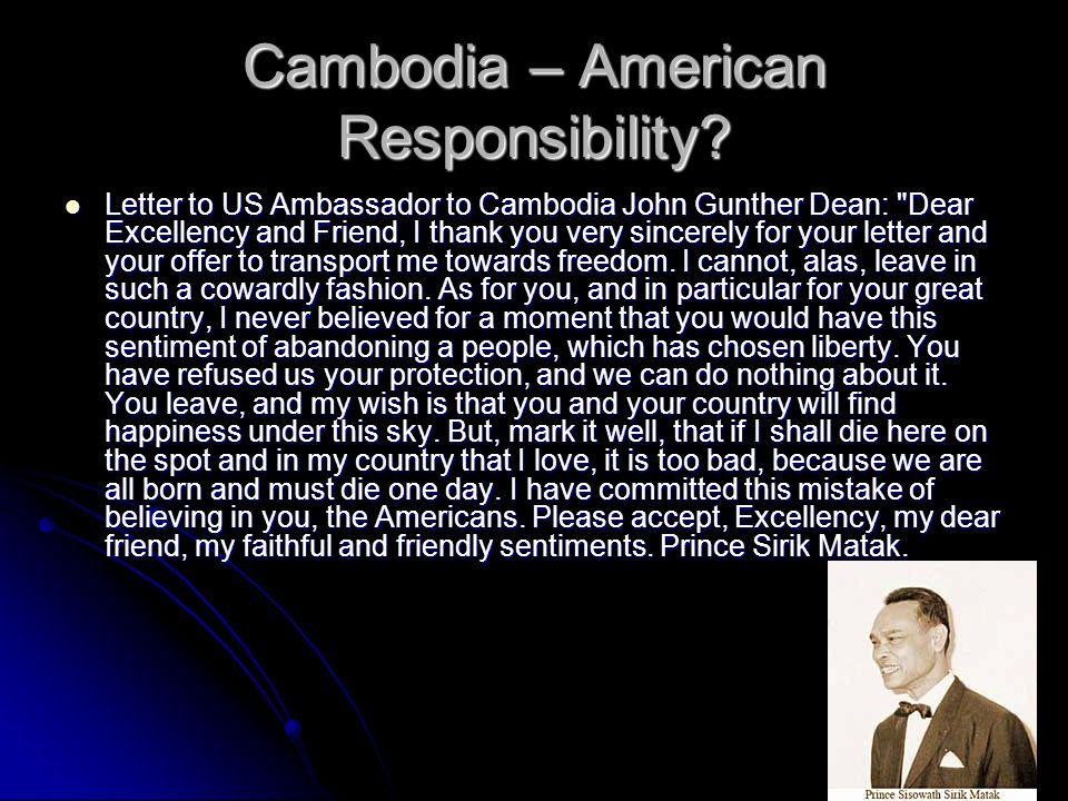 Cambodia – American Responsibility.