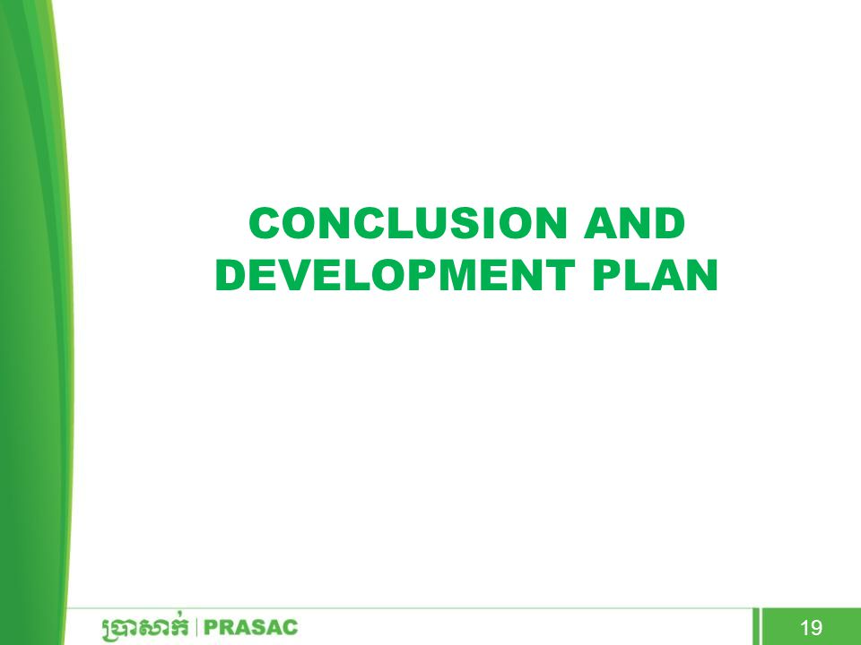 CONCLUSION AND DEVELOPMENT PLAN 19