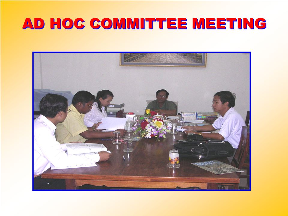 AD HOC COMMITTEE MEETING
