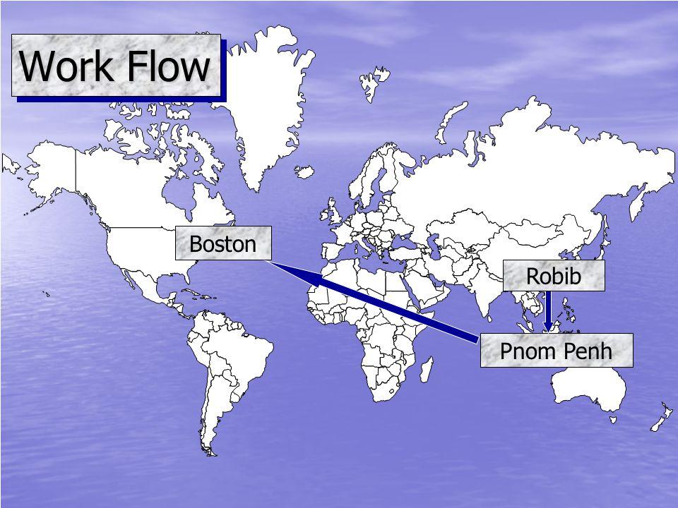 Work Flow Pnom Penh Boston Robib