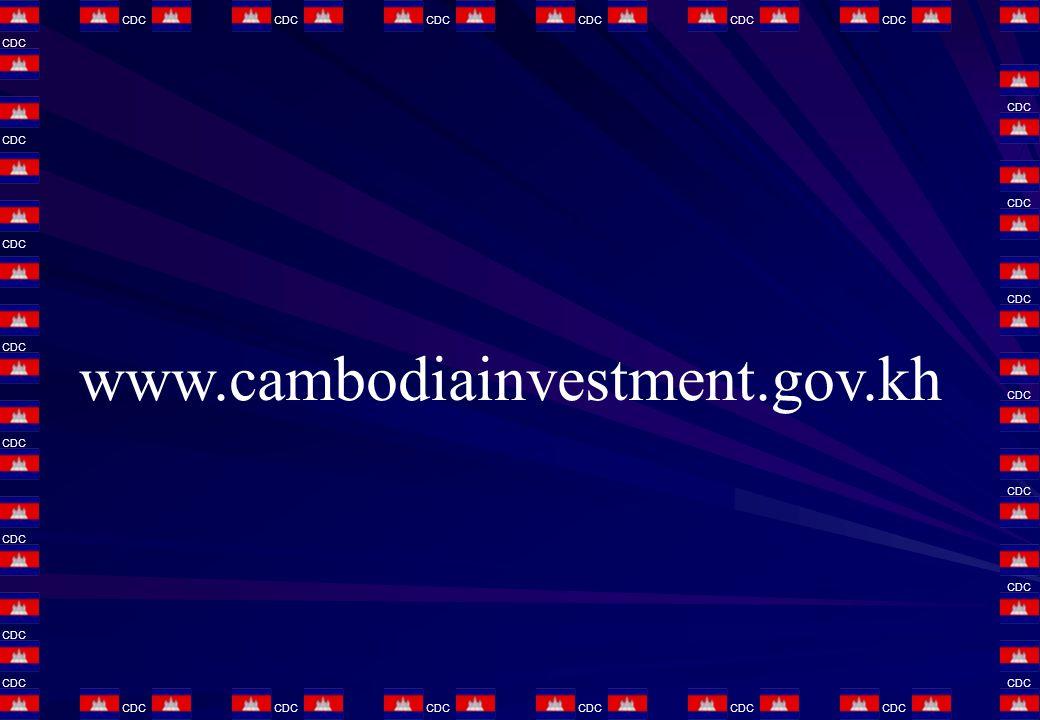 www.cambodiainvestment.gov.kh CDC