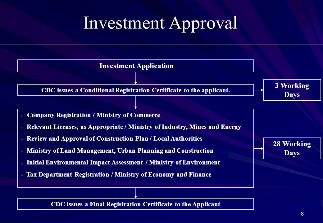 9 Investment Incentives  20% Corporate Tax  Tax Holidays (TH): Trigger Period +3 years+n; 6y <TH<9y  Full Import Duty Exemption  Repatriation of Profit (Withholding Tax)  Reinvestment of Earning (Special Depreciation)