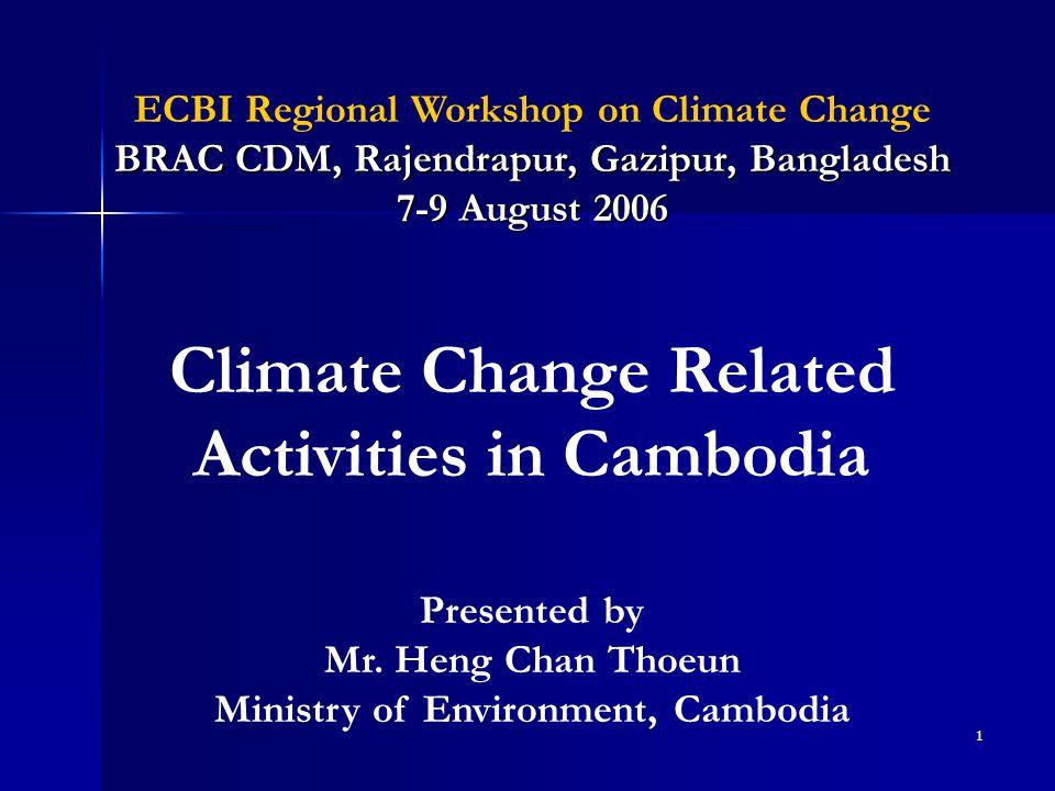 1 BRAC CDM, Rajendrapur, Gazipur, Bangladesh ECBI Regional Workshop on Climate Change BRAC CDM, Rajendrapur, Gazipur, Bangladesh 7-9 August 2006 Prese