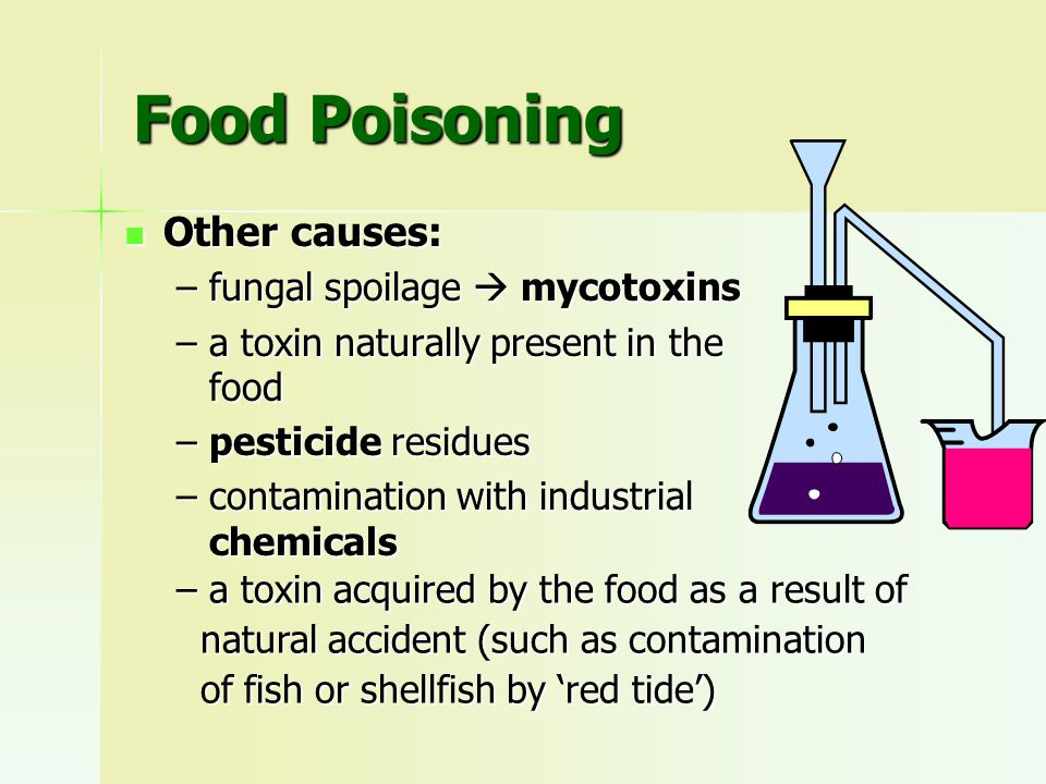 Bacterial Food Poisoning contamination of foods with bacteria that do not cause any obvious spoilage, contamination of foods with bacteria that do not cause any obvious spoilage, food is still apparently fit to eat, food is still apparently fit to eat, but may contain hazar- dous amounts of harmful organisms or toxins but may contain hazar- dous amounts of harmful organisms or toxins