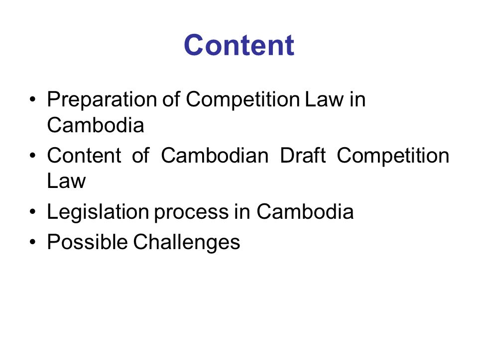 Adequate capacities building (Regulator, Policies maker and expert) Consumer group and the media ( So as to generate awareness and support among the wider public for the adoption and implementation of Competition Law and Policies The business to ensure their compliance with the Law and Policy Possible Challenges