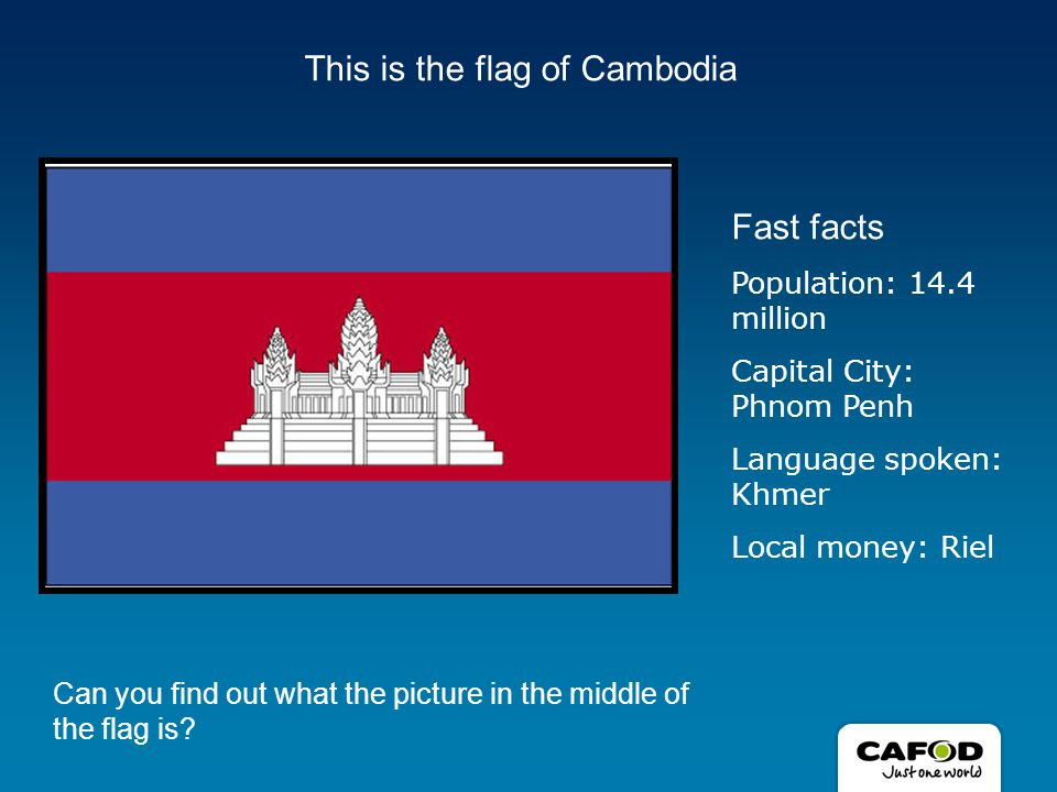 Did you know….About 1 in 3 people live on less than $1 a day in Cambodia.
