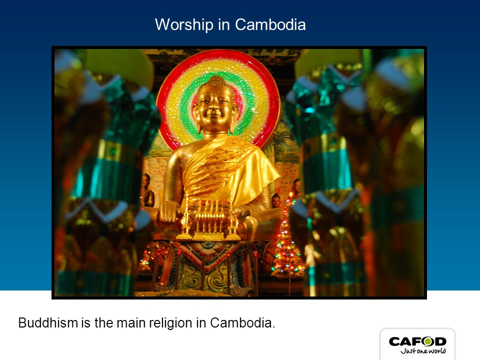People in Cambodia worship in Pagodas.