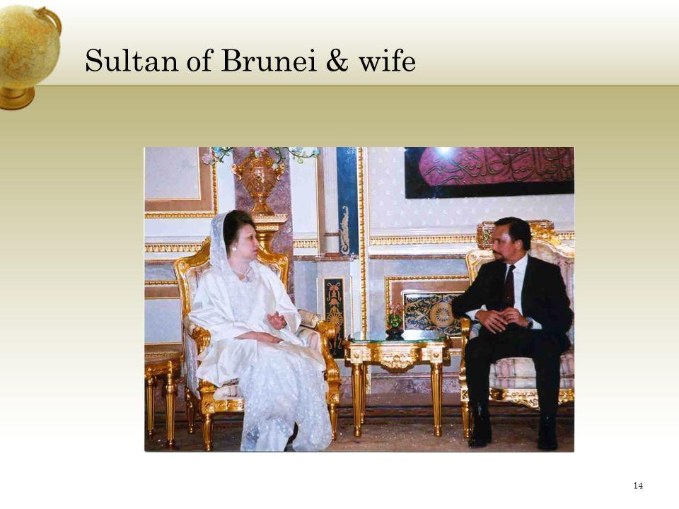 Sultan of Brunei & wife 14