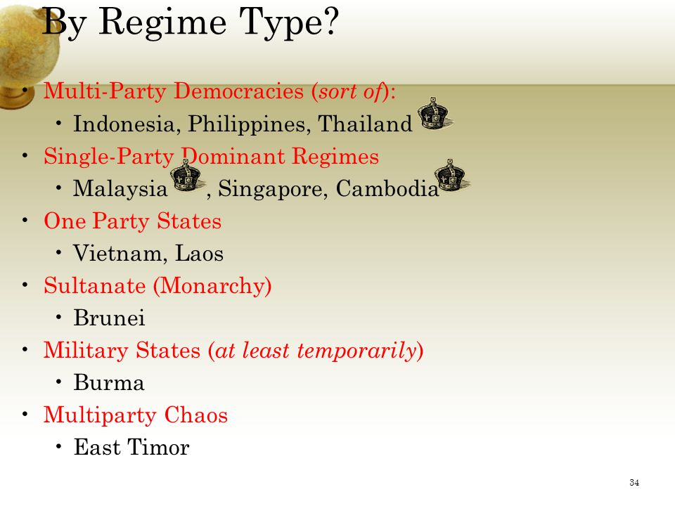 By Regime Type.