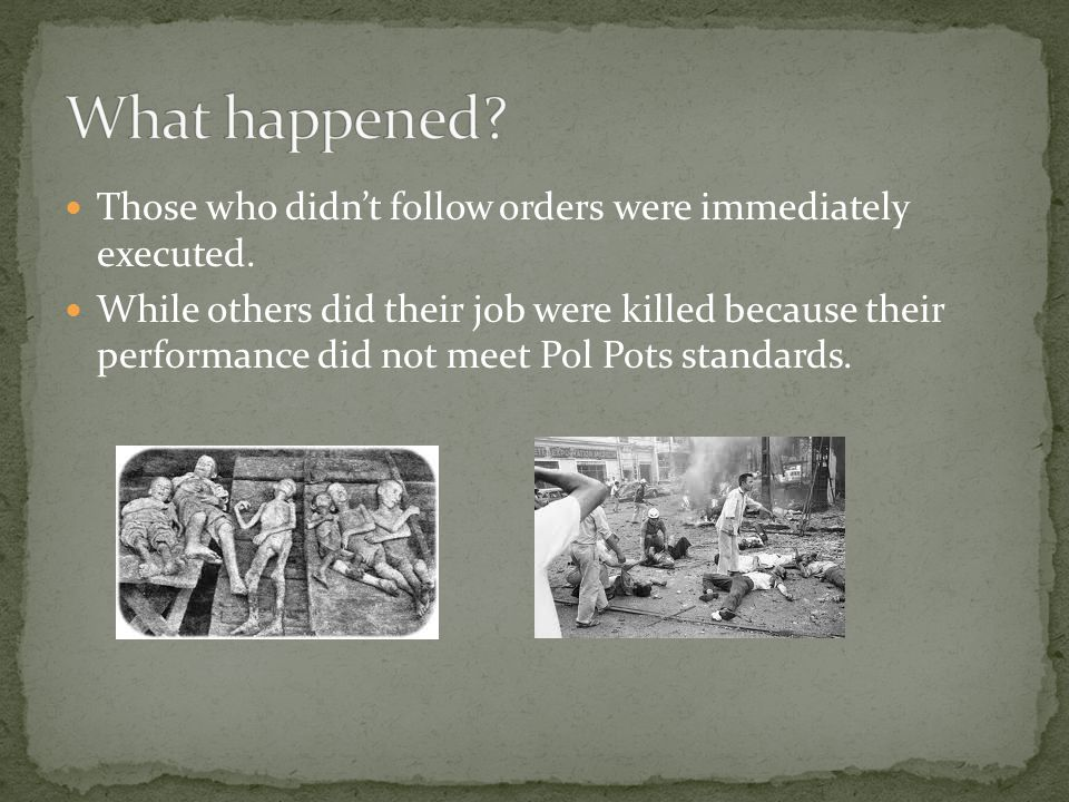 People were divided depending on how Pol Pot felt towards them.