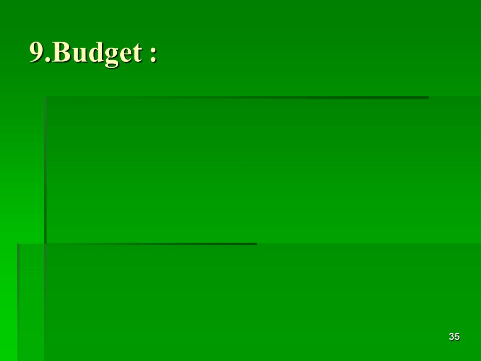 35 9.Budget :