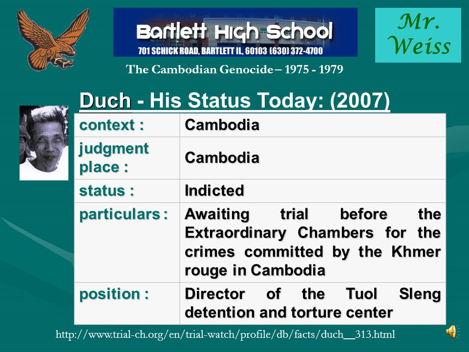 Mr. Weiss The Cambodian Genocide – 1975 - 1979 FRIDAY, 22 OCTOBER 2010 15:02 THOMAS MILLER