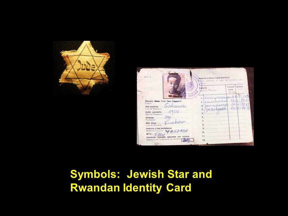 Symbols: Jewish Star and Rwandan Identity Card