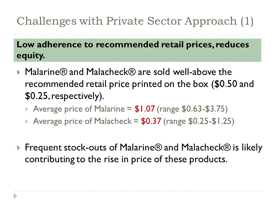 Challenges with Private Sector Approach (2) ACT coverage is still low.